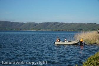 Cadavere emerge dal lago di Vico