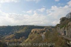 Una panoramica di Calcata