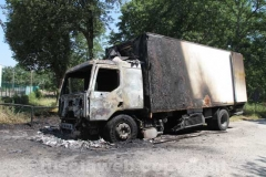 Camion in fiamme sulla Superstrada