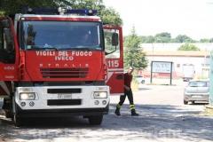 I vigili del fuoco sul posto