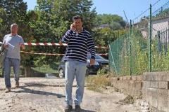 Il sindaco Maurizio Palozzi partecipa ai sopralluoghi
