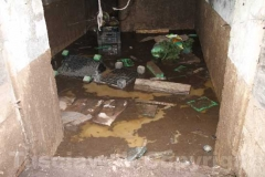 Il fango in una cantina
