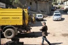 Il presidente della Provincia Marcello Meroi per le strade di Canepina
