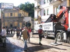 I soccorsi in via Viterbo