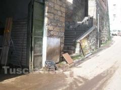 Il fango per le strade di Canepina