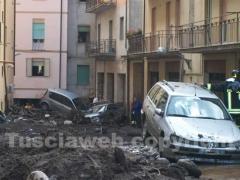 Le auto travolte del fango