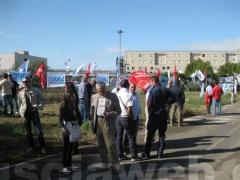 Protesta davanti al carcere