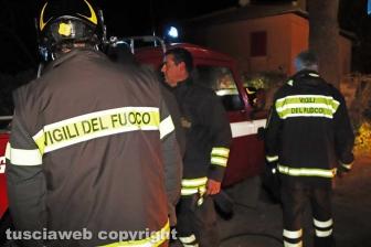 Casa in fiamme in strada Ciavalletta