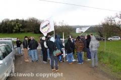 Casale Bussi, il sit in di protesta