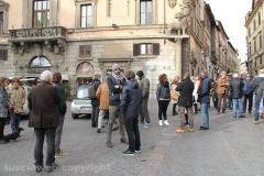 La protesta dei commercianti del centro