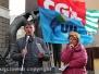 Cgil, Cisl e Uil a piazza della Repubblica