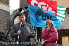 La manifestazione dei sindacati