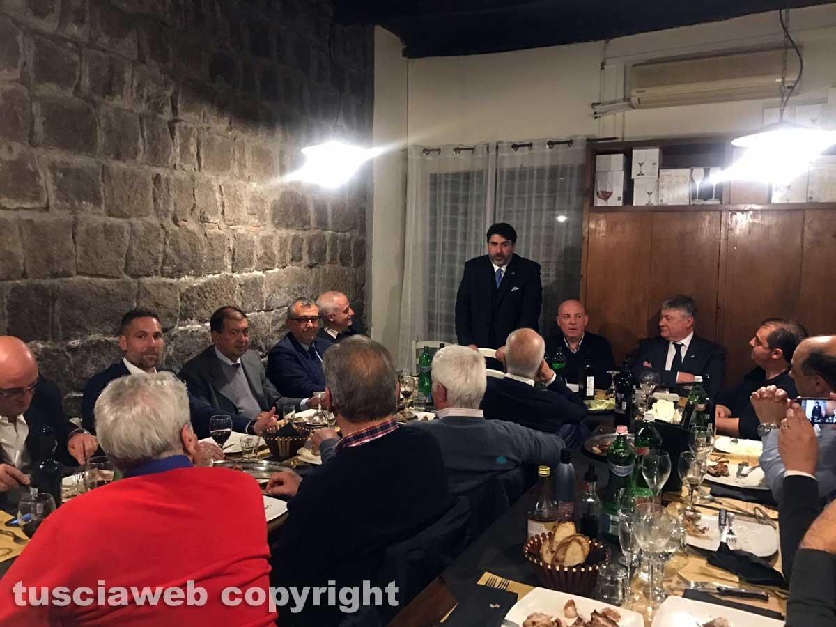 Christian Solinas a cena nella Tuscia