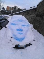 Un volto fatto di neve