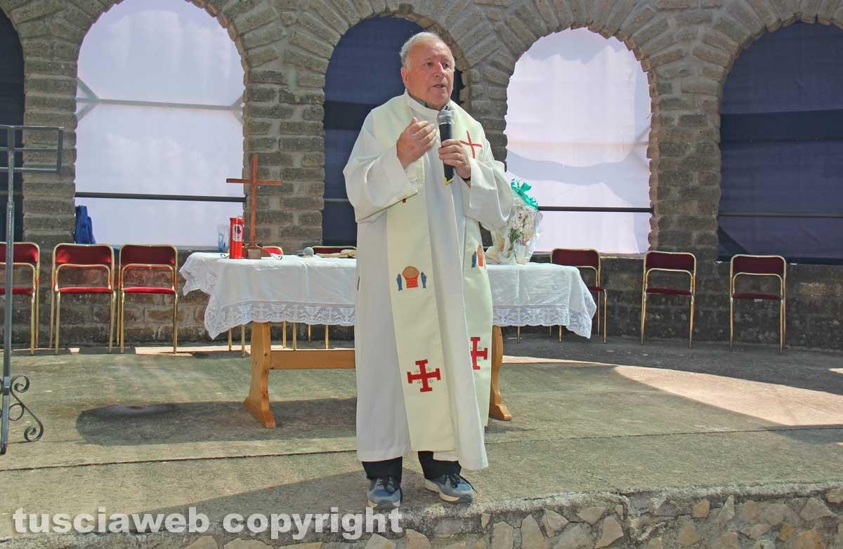 Viterbo - La celebrazione alla comunità della Quercia - Don Alberto Canuzzi