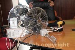I ventilatori sequestrati