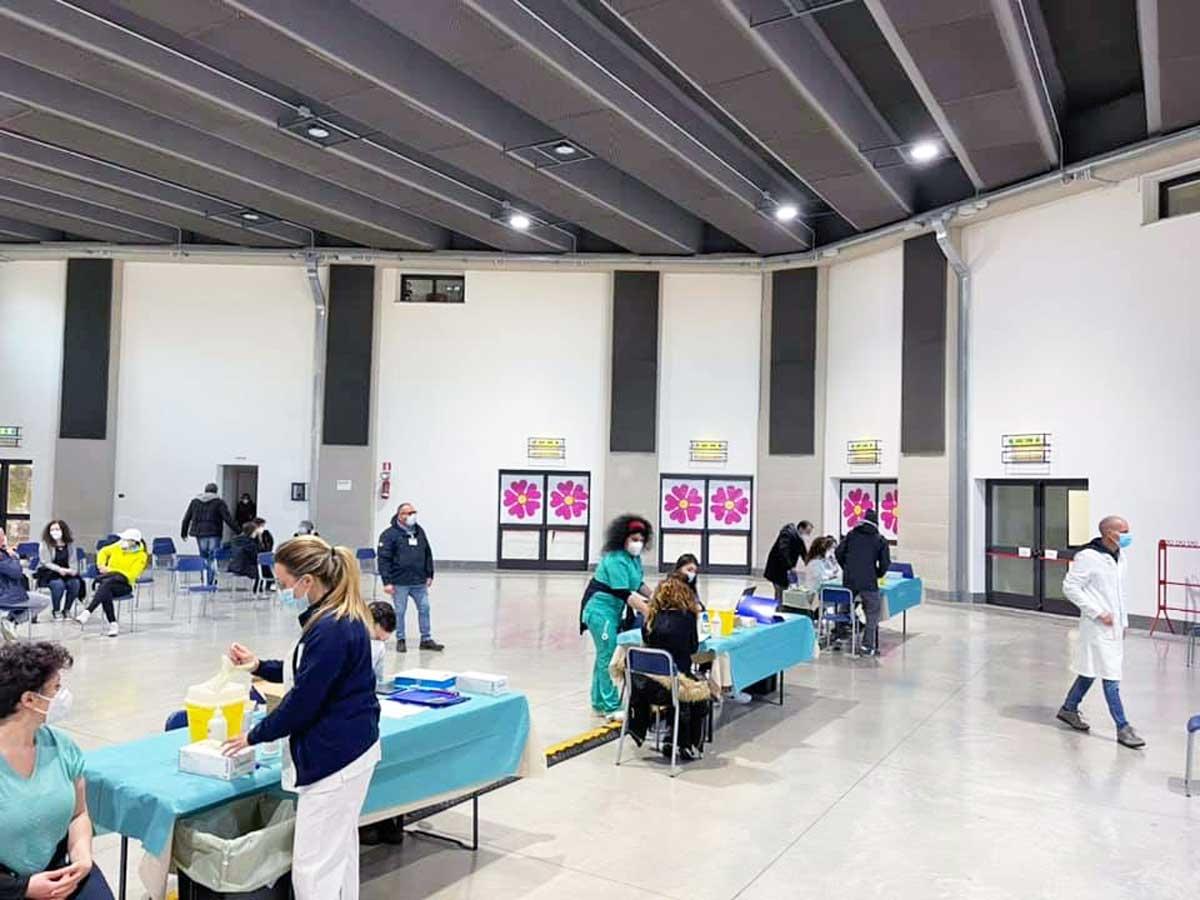 Viterbo - Centro di vaccinazione anti Covid alla Grotticella