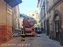 Crollo in via Cardinal La Fontaine