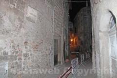 Crollo nel centro storico a Bagnaia