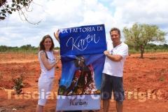 Roberto Lilli e Sheila Santopietro mostrano orgogliosi il loro progetto