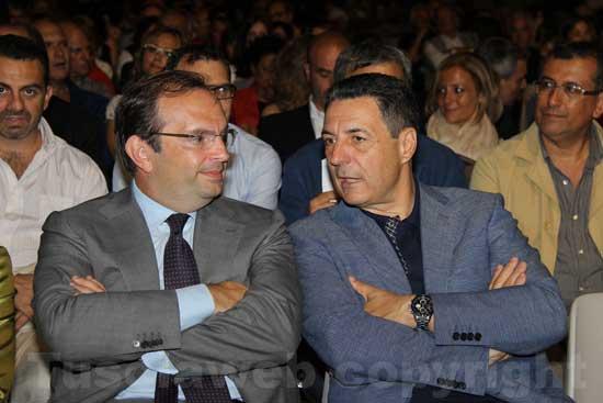 Aurelio Regina con Giulio Marini