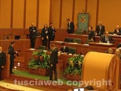 La prima seduta del consiglio regionale del Lazio