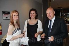 Mauro Barlozzini con la moglie e Valeria Monacelli