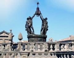 La fontana dei quattro mori prima della gelata