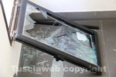 La finestra dalla quale sarebbero entrati i ladri
