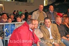 L\'assessore provinciale Bianchini, il vicesindaco Buzzi e il sindaco Marini