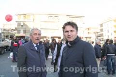 L\'assessore Simeone e il segretario dell\'Udc Gianmaria Santucci