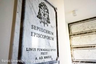 Viterbo - Il sepolcro dei vescovi alla Quercia
