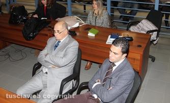 Gli avvocati Giorgio e Fausto Barili tra il pubblico
