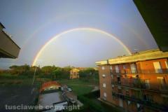 Doppio arcobaleno su Viterbo - Foto di Agostino Cuzzoli dal Barco