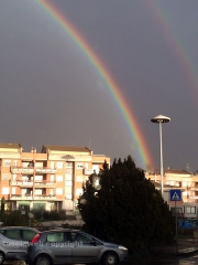 Doppio arcobaleno su Viterbo - Foto di Filippo D\'Oria