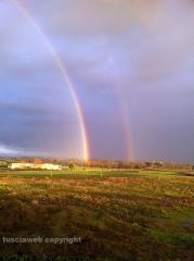 Doppio arcobaleno su Viterbo - Foto di Claudia Barbesin dalla Gescom