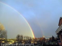 Doppio arcobaleno su Viterbo - Foto di Giovanni Maesano