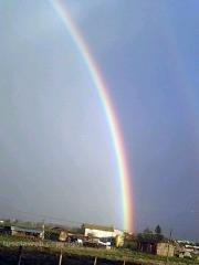 Doppio arcobaleno su Viterbo - Foto di Stefano