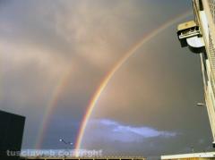 Doppio arcobaleno su Viterbo - Foto di Mirko Chiani