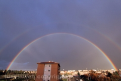 Doppio arcobaleno su Viterbo - Foto di Tusciaweb