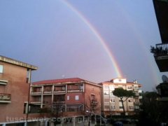 Doppio arcobaleno su Viterbo - Foto di Raffaele Russo