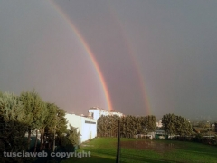 Doppio arcobaleno su Viterbo - Foto di Mauro Storti