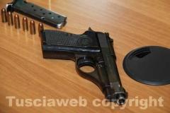 La pistola sequestrata