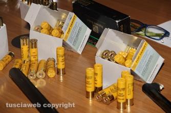 Bassano Romano - Sequestrata piantagione di droga e deposito di armi - Le cartucce
