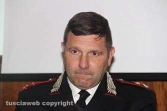 Bassano Romano - Sequestrata piantagione di droga e deposito di armi - Il maggiore Carlo Scotti, comandante della compagnia di Ronciglione