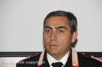 Bassano Romano - Sequestrata piantagione di droga e deposito di armi - Angelo Fazzi, comandante del nucleo operativo radiomobile di Ronciglione