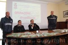 Il maggiore Trombetta e il luogotenente Fazi illustrano i dettagli dell\'operazione Green House