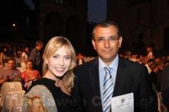 Tuscia operafestival - Margot Sikabonyi con il vice sindaco Enrico Contardo