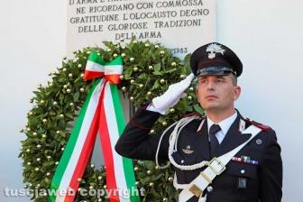 Nella foto: Viterbo – La commemorazione dei carabinieri Pietro Cuzzoli e Ippolito Cortellessa