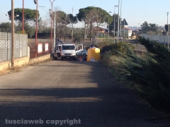 Viterbo - Ponte di Cetti - Emergenza rifiuti